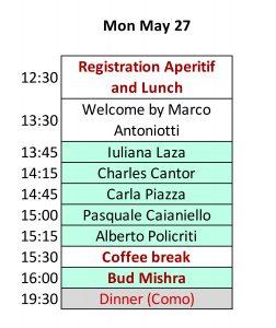 2019 BBday Schedule